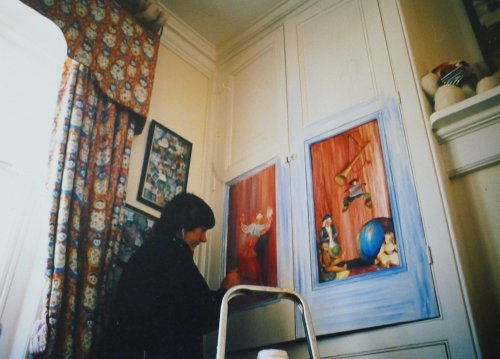 Panel Paintings on a Toy Cupboard