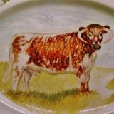 Farm and Countryside Fine Bone China. Commissioned Longhorn serving plate