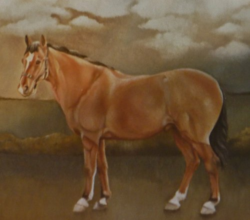 Oil Paintings of  Horses (detail from former commission)