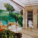 Hand Painted Mural for Conservatory