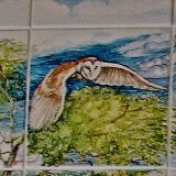 Hand Painted Owls in Tiles(small detail from former commission)
