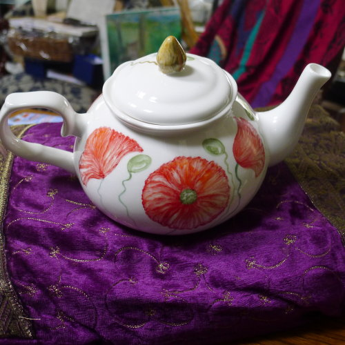 Taylor's Teapot (Hand Painted) other side of Teapot and Price next Image.