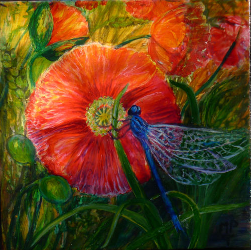 Poppy and Damselfly my Logo