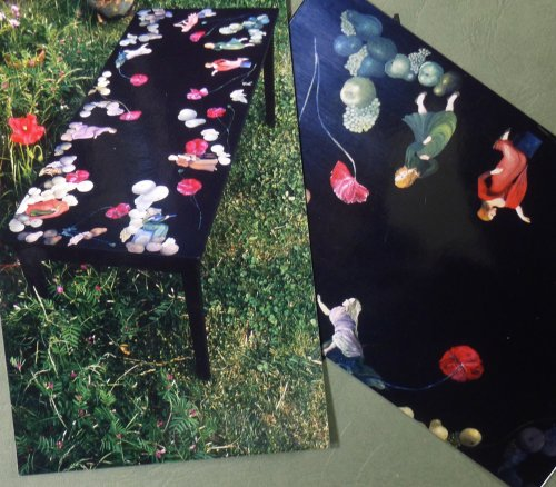 Photographs of Hand Painted Table and selected Detail