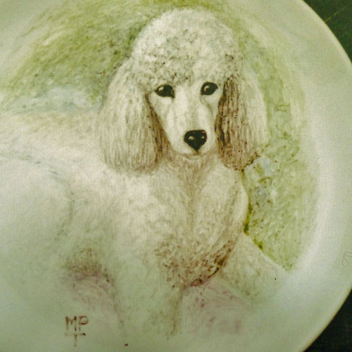 "Painting of ""Dolly"" onto a Fine Bone China Plate"
