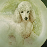 """Painting of """"Dolly"""" onto a Fine Bone China Plate"""