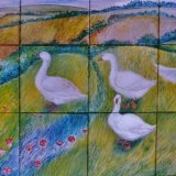 Hand Painted Tiles ( Detail from Mural )