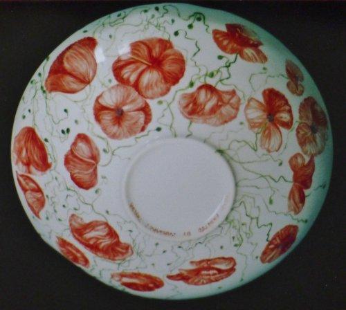 English Wildflower Fine Bone China Hand Painted Large Fruit Bowl
