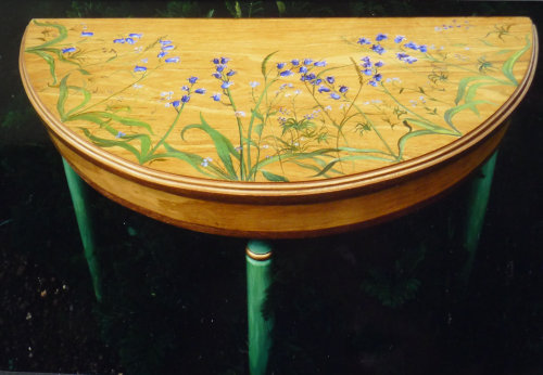 Unique Hand Painted Hall Table