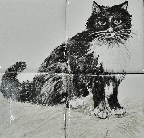 Portraits of Cats in Tile Murals