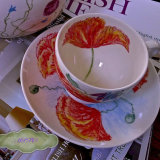 Unique Hand Painted Cup & Saucer.