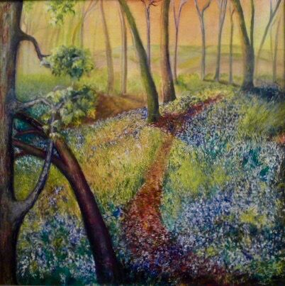Lincolnshire Woods. Detail from oil painting in private collection.