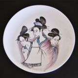 Bespoke hand painted large bowl