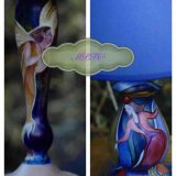 Two Bespoke Hand Painted Table Lamps. Past Commissions. Watermarked to protect copyright.