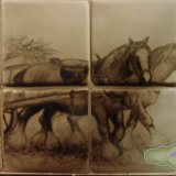 "Farm and Countryside Tiles.""Heavy Horses"""