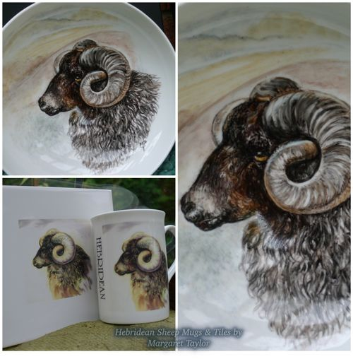 Hebridean Hand Painted Bowl (N,F.S)  Limited Edition Printed TILES £14.99 each.