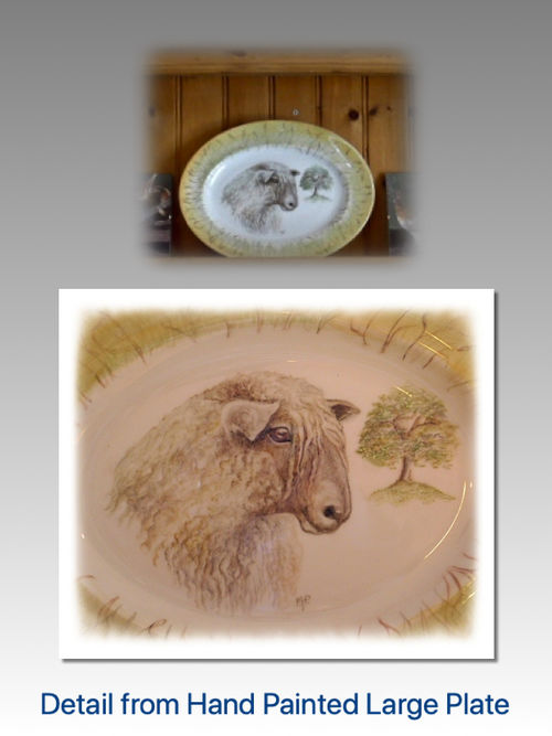 Close Detail of Longwool Sheep. Large Oval Serving Plate £90.00