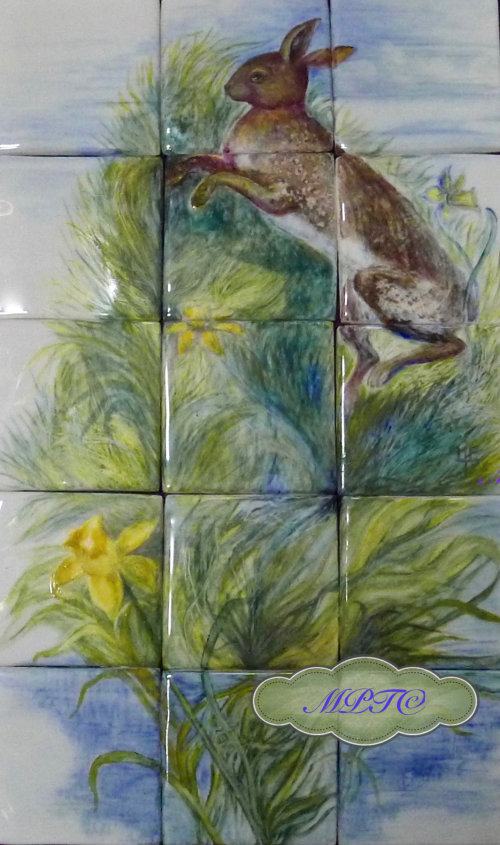Spring Hare Tiles - Sold