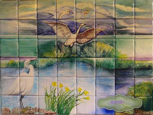 """Full """"Little Egret"""" Mural"""