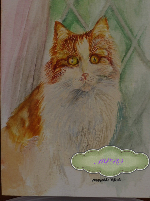 "Portrait of Nelly Musician in ""The Cat Band Story"". Would you like a Watercolour Painting of your Cat?"