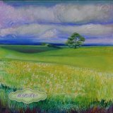 """Lincolnshire Landscape. Detail from painting """"May"""""""