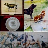 Portraits of your animals. Unique and Hand Painted onto Fine Bone China and Tiles.