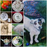 GIFT inspiration. Commission your own Portrait. Drawing, Painting or China.