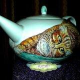 Cat Portraits onto Teapots