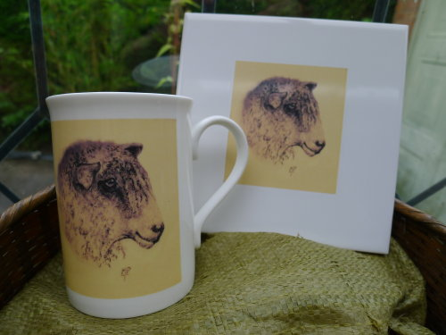 Printed Longwool Sheep Design taken from Hand Painted Bowl. Tiles £7.99