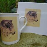 Printed Longwool Sheep Design taken from Hand Painted Bowl. Mugs £7.99. Tiles £14. 99 Each