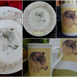 Original Hand Painted Longwool Bowl (Left & Top Middle ) Printed items of China (Right & Top)