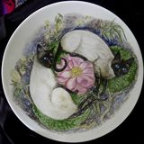 Hand Painted Cats on fine Bone China Bowl
