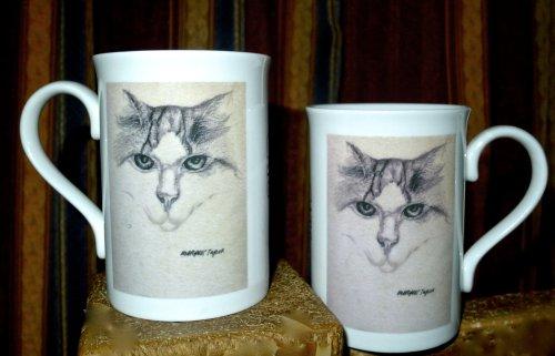 Drawing Printed onto Fine Bone China Mugs