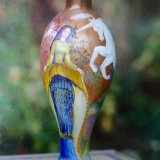 Past Commission of Hand Painted Wooden Table Lamp
