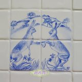 Hand Painted Boxing Hares