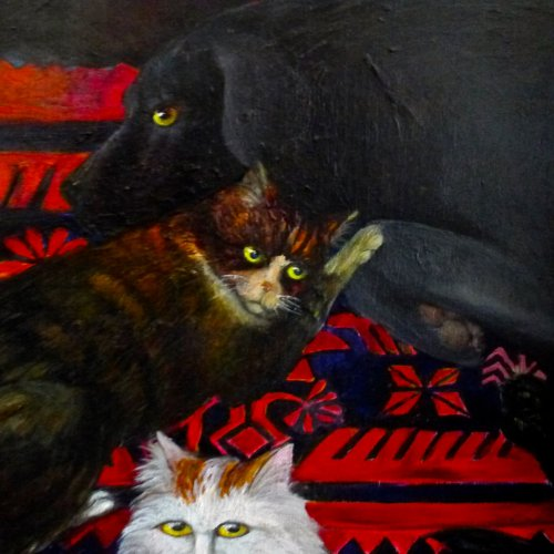 Cat and Dog Portraits in Oil