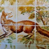 Detail from Hand Painted Kitchen Mural (Farm and Countryside Tile Mural)