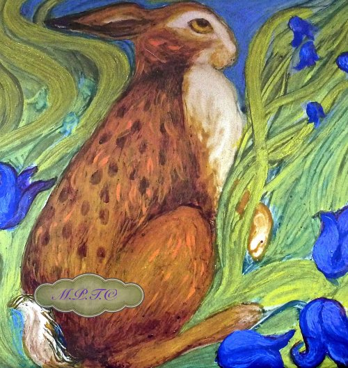 The Hare Belles- Limited Edition printed Tile. 1..£14.99 each.