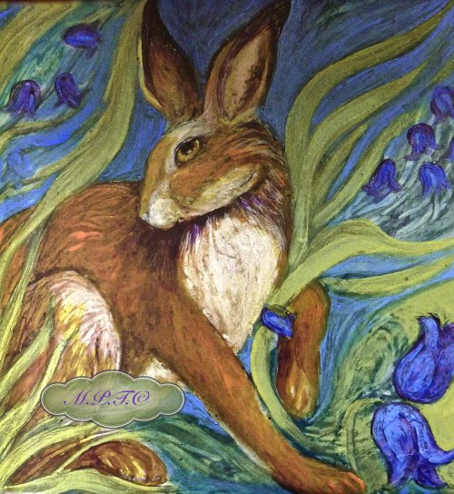 Hare Belles Limited Edition Tiles for sale on Gallery 'Off the peg Murals and China'