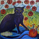 """One of five Limited Edition printed Tiles """"The Toast & Marmalade Cats"""" For Sale on """"TheTaylorTrilogy.co.uk"""""""