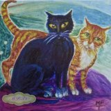 """""""The Toast and Marmalade Cats"""" Printed Tiles for sale on TheTaylorTrilogy.co.uk"""