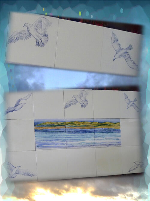 """Seagulls"" For Sale on The Margaret Taylor Collection."