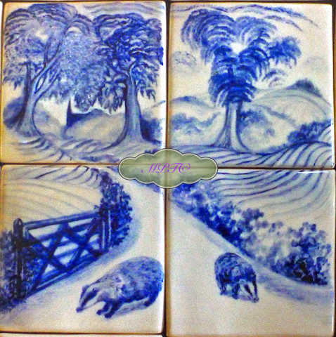 Badgers in Blue (In the Pink & In the Blue Collection)