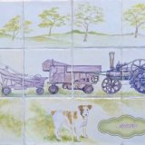 """""""Dog &Threshing Machine"""" Reduced Price on E-commerce site TheTaylorTrilogy.co.uk. Page section """" Gallery 2A Art for Sale""""  Link to e-commerce website at top of each Gallery"""