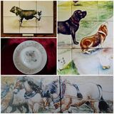 Past Commission of Hand Painted China and Tiles.