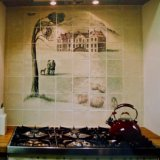 The mural can now be mounted onto your wall (Picture is former bespoke commission)