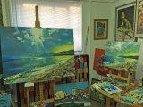 2 seascapes in the studio