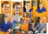 Making the portrait of Devakaran
