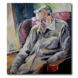 Artist father in a chair