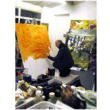Preparing a canvas'